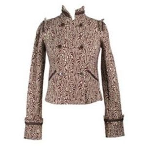 DVF Logan Blazer Cropped Jacket Brown 6 Small